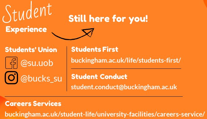 Student Experience Still Here for You